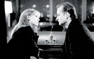 Scarlett Johansson e Bill Murray in una scena del film