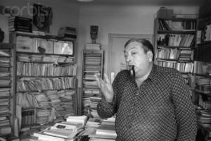 Jacques Le Goff nel suo studio